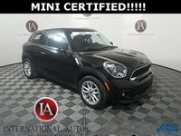 MINI CERTIFIED, 4 NEW TIRES!!!!, Black Headlight