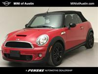 CARFAX One-Owner. Certified. Chili Red 2015 MINI Cooper