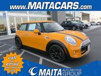 CARFAX One-Owner. Clean CARFAX. Orange 2015 MINI Cooper