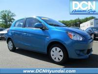 CARFAX One-Owner. Blue 2015 Mitsubishi Mirage DE FWD