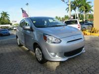 Options:  2015 Mitsubishi Mirage De 4Dr Hatchback