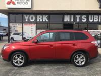 CARFAX One-Owner. Red 2015 Mitsubishi Outlander SE 4WD