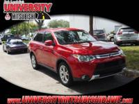 **HAGGLE FREE PRICING** Red 2015 Mitsubishi Outlander