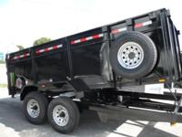 2015 New 7x14 Dump Trailer Tandem 7000 LB Axles (140000