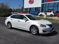 New Price! Solid White 2015 Nissan Altima 2.5 S FWD CVT