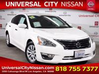Clean CARFAX. Certified. White 2015 Nissan Altima 2.5 S