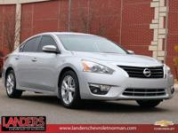 Clean CARFAX. Brilliant Silver 2015 Nissan Altima 2.5