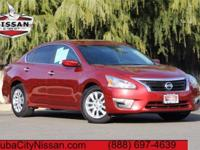 2015 Nissan Altima Red  CARFAX One-Owner. CVT with