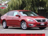 2015 Nissan Altima Cayenne Red  CARFAX One-Owner. CVT