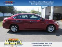 This 2015 Nissan Altima 2.5 in Red is well equipped
