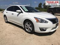White 2015 Nissan Altima FWD CVT with Xtronic 2.5L I4