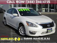 Options:  2015 Nissan Altima 2.5 S|White|Check Out This