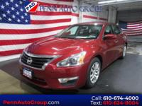 Red 2015 Nissan Altima 2.5 FWD CVT with Xtronic 2.5L I4
