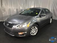 CARFAX One-Owner. Gun Metallic 2015 Nissan Altima 2.5 S