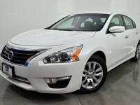 CARFAX One-Owner. Solid White 2015 Nissan Altima 2.5 S