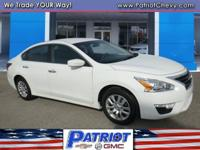 2.5 S trim, Pearl White exterior. FUEL EFFICIENT 38 MPG
