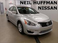 New Price! Brilliant Silver 2015 Nissan Altima 2.5 S