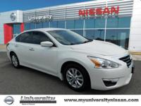 CARFAX One-Owner. Pearl White 2015 Nissan Altima 2.5 S
