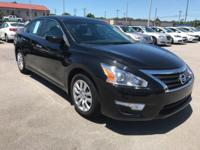 Clean CARFAX. Super Black 2015 Nissan Altima 2.5 S FWD
