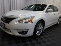 Bluetooth, One Owner. 2015 Pearl White Nissan Altima 4D