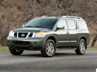Clean CARFAX. Black 2015 Nissan Armada 4WD 5-Speed