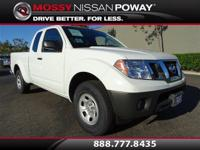 Frontier S I4, Nissan Certified, 5-Speed Automatic with