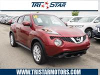 This 2015 Nissan Juke SV includes a push button start,