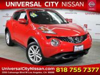 Clean CARFAX. Certified. Red 2015 Nissan Juke SV 4D