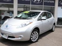 Brilliant Silver 2015 Nissan Leaf S ONE OWNER FWD