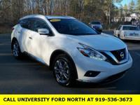 CARFAX One-Owner. 2015 Nissan Murano Platinum Pearl
