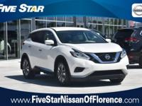 2015 Nissan Murano S Pearl White 4D Sport Utility 3.5L
