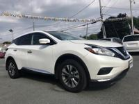 2015 Nissan Murano S White CVT with Xtronic, AWD,