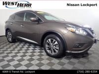 New Price! 2015 Nissan Murano SL CARFAX One-Owner.