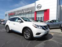 CARFAX One-Owner. Clean CARFAX. Pearl White 2015 Nissan