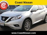 Silver 2015 Nissan Murano SL FWD CVT with Xtronic 3.5L