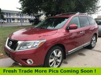Recent Arrival! Red Metallic 2015 Nissan Pathfinder