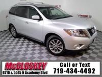 Trek the world in this 2015 Nissan Pathfinder S w/ 4x4,