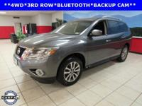BACKUP CAM, BLUETOOTH, 3RD ROW SEATS, Pathfinder SV, 4D
