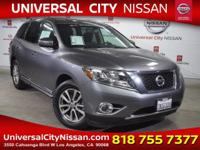 Clean CARFAX. Certified. Gray 2015 Nissan Pathfinder SL