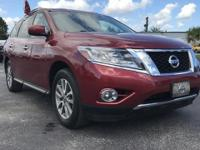 Options:  2015 Nissan Pathfinder|Red|Low Miles Indicate