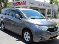 CARFAX One-Owner. Gun Metallic 2015 Nissan Quest 3.5 SV