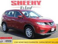 CARFAX One-Owner. Cayenne Red 2015 Nissan Rogue S AWD