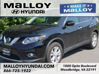 Super Black 2015 Nissan Rogue SV AWD Automatic 2.5L I4