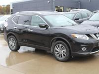 Super Black 2015 Nissan Rogue SL AWD CVT with Xtronic