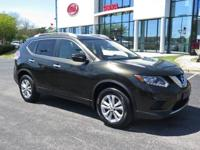 Clean CARFAX. Midnight Jade 2015 Nissan Rogue SV AWD