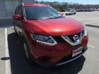 Clean CARFAX. Cayenne Red 2015 Nissan Rogue SV AWD CVT