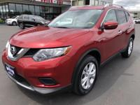 CARFAX One-Owner. 2015 Nissan Rogue SV Red One Owner,
