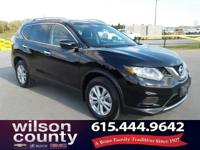2015 Nissan Rogue S 2.5L I4 DOHC 16V Super Black Clean