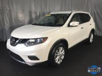 CARFAX One-Owner. Pearl White 2015 Nissan Rogue SV FWD