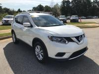 Pearl White 2015 Nissan Rogue SV FWD CVT with Xtronic